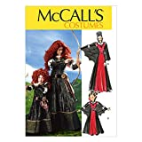 McCall's M6817 Girl's Scottish Princess and Vampire Halloween Costume Sewing Pattern, Sizes 3-8
