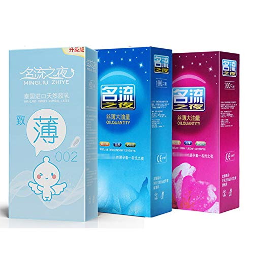 Rabusion Health For 100 Pcs Condoms Ultra-thin Lubricated Condoms for Men Sex Products Ultra-thin 002