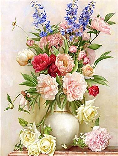 5D diamante pintura flor diamante bordado mosaico punto de cruz rosa decoración del hogar diamante pintura A2 60x80cm