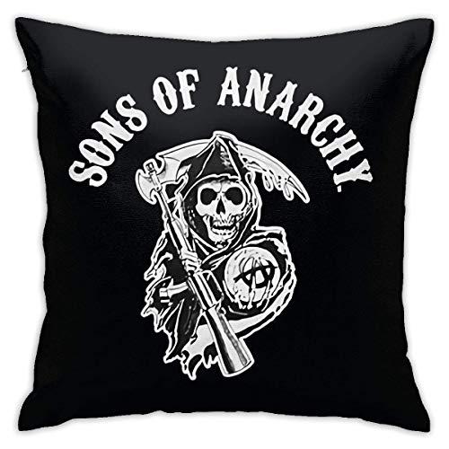 Jingliwang Sons of Anarchy Pattern Throw Pillow Fundas Algodón Poliéster Fundas de Cojines Fundas de Almohada Sofá Decoración para el hogar 18 & Acirc; & Euro; X 18 & Acirc; & Euro; / 45 X 45 cm