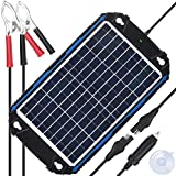 SUNER POWER Waterproof 12V Solar Battery Charger & Maintainer Pro - Built-in...