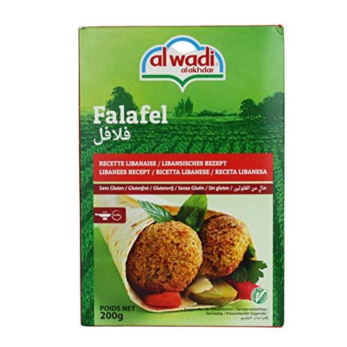 Al Wadi - Orientalische Falafelmischung - Vegan vegetarische Falafel-Fertigmischung in 200 g Packung