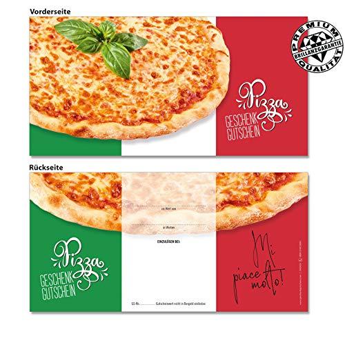50 hochwertige Gutscheinkarten Geschenkgutscheine DIN-lang. Gutscheine für Italienische Restaurants Pizzeria Pizza. Vorderseite hochglänzend. G92024