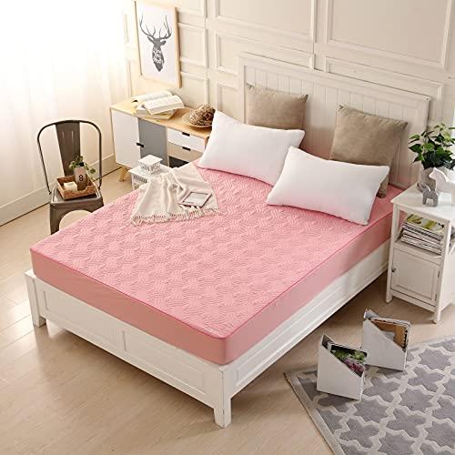 NHhuai Unterbett Soft-Matratzen-Topper, Matratzenschutz Boxspring-Betten geeignet Hotel einteiliger dickerer Matratzenbezug