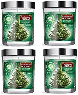 Air Wick Enchanted Holiday Evergreen Adventure Scented Candle, 5oz