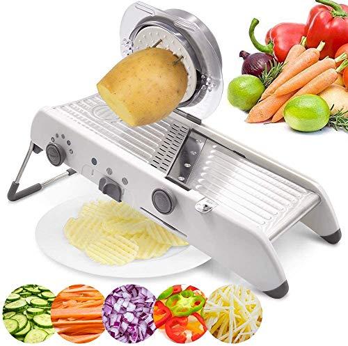 RHSML Multifunktions-Edelstahl Für Den Haushalt 18 Typen Einstellbar Mandoline Gemüseschneider Schredder Reibenschneider Küchenkartoffelschneiden