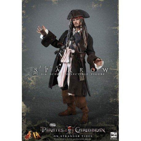 Hot Toys figura de acción Piratas del Caribe Capitán Jack Sparrow On Stranger Tides 1/6 escala pintado a mano por colección