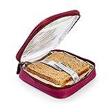 PracticDomus Porte-Sandwich Thermo-Isolé pour Enfants par Iris Barcelona. Modèle Fun. Couleur Bourgogne