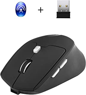 Docooler G823 Dual Mode Optical Computer Mouse Wireless 2.4G 2400DPI Portable Recharge Gaming Mouse Mice for Mac Black