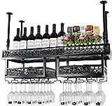Bedspread American-Style Wall Wine Racks Metal Iron Storage Shelf in Bar Household Loft Ceiling Wall Mounted Hanging Wine Champagne Glass Goblets Stemware Rack Wine Bottle Holder