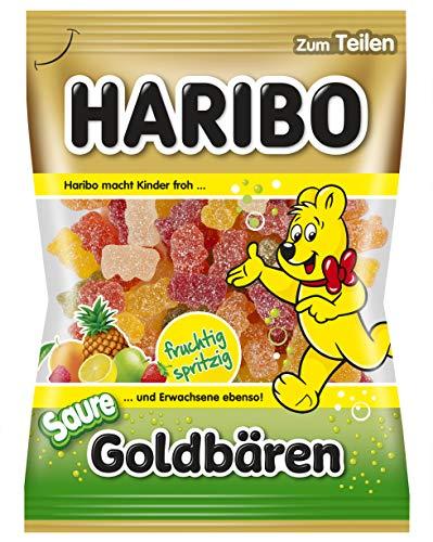 Haribo L'Ours d'Or Acidulé, Bonbons Acides, Bonbons Gélifiés, Bonbons Fruités Acides, en Sachet, Paquet, 200 g