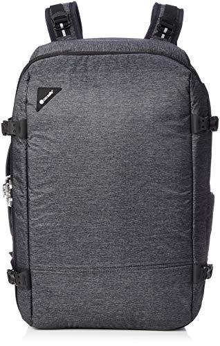 Pacsafe Vibe 40 - Anti-Diebstahl Rucksack, Diebstahlschutz Reiserucksack, Handgepäck 40 Liter, Grau Melange/Granite Melange