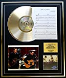 GOLD RECORD The Eagles/CD Disco de Oro, Hoja de canción y Foto de la exhibición/LTD. Edición/Coa/Albúm Hotel California/Song Sheet Hotel California