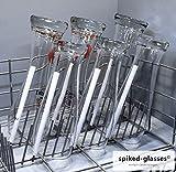 spiked-glasses Glashalter für Spülmaschine - Bierfreunde 6er Set - Lange Aufsteckhalter Halterung...