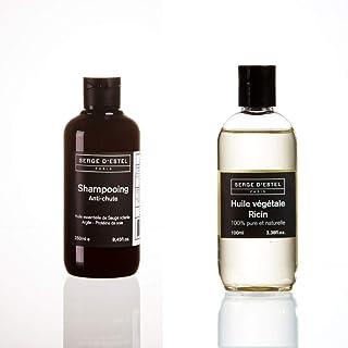SERGE D'ESTEL PARIS Anti Hair Loss Shampoo 250 Ml Castor Oil 100 Ml Care Promoting Hair Growth Made In France