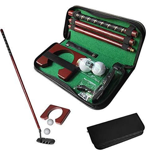 Juego de Putter de Golf interiore exteriore, Kit de Entrenador de Putting Golf portátil con Pelota de Golf, Taza de práctica y Estuche de Transporte para Oficina hogar jardín Viajes Principiantes