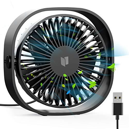 Orzly Ventilateur USB Portable Aluminium 360/° HQ Booster 1x NOIR 4 Pouces