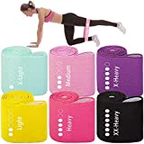 Aora Livre Fabric Resistance Bands for Legs,Butt,Glutes,Arms Non-Slip Stretch Workout Exercise Booty Bands 6 Levels for Women Indoor Fitness with Case