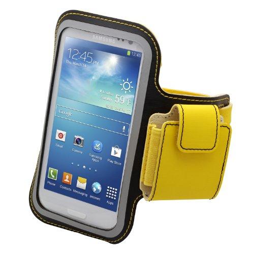 Aduro U-BAND Plus Reflective Armband with Pouch for Headphones for Samsung Galaxy S3 / S4 / S5, Motorola Droid RAZR MAXX HD, HTC ONE, Galaxy Nexus 4 / 5 (Yellow/Black)
