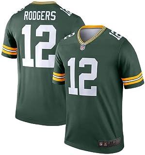 61dd1519e73 Majestic Men's Aaron Rodgers Green Bay Packers #12 NFL Football Jersey-Green