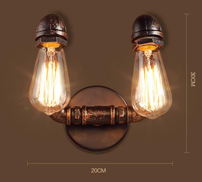 Xiadsk Penthouse Wroguht Eisenrohr Wandleuchte Retro Ganglampe Dachboden Eisen Wandleuchte Edison Glühlampe