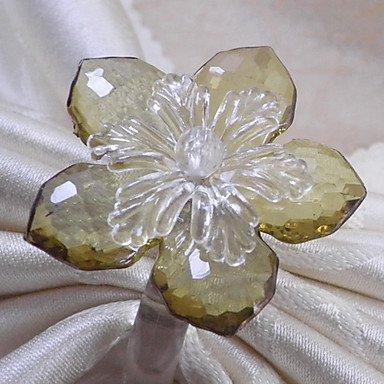 Ch&Ch Elegant poinsettia napkin ring, Set of 12, acrylic beads dia 3.5cm