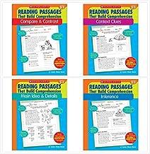 Scholastic Reading Passages That Build Comprehension for Grade 2-3 Complete Set (4 Books) - Compare&Contrast, Context Clues, Inference, Main Idea&Details