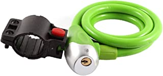 X-Dr 1.2m Length Bicycle Safeguard Steel Wire Inside Locking Lock Green w 2 Key (7337f65a-a222-11e9-8d7c-4cedfbbbda4e)