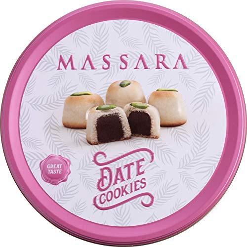 MASSARA Date Dattel Cookies in der Metalldose - Cookies gefüllt mit Datteln Kekse (500 GR)