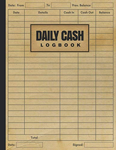 Daily Cash Log Book: Petty Cash Large Ledger Book | Daily Cash Flow Log (Income and Expenses) | Column Payment Tracking Receipt Book | Financial Record Keeping Notebook For Business (Volume 11)