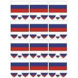 SpringPear 12x Temporär Tattoo von Flagge Russlands für Internationale Wettbewerbe Olympischen Spiele Weltmeisterschaft Wasserfeste Fahnen Tätowierung Flaggenaufkleber WM Fan Set (12 Pcs)
