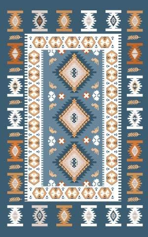 Moderne Stijl Tapijten Retro Blauwe Mediterrane Geometrische Etnische Wind Slaapkamer Deur Woonkamer Kristal Fluweel Tapijt Grote Kwaliteit Home Rug,A,80 * 160cm