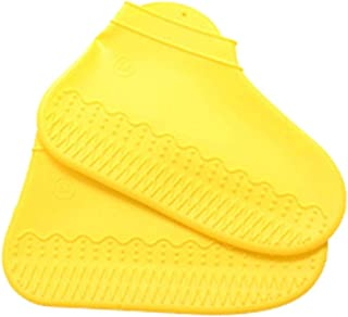 flower205 Épaissies Bottes De Pluie Silicone, Pluie Non-Slip Transparent Costume Imperméable Couvre-Chaussures Sac -Preuve...