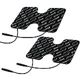 Prorelax CM13088 Pads con Elettrodi Blackline, Pads di Ricambio per Dispositivi Tens + Ems, per L'Elettro-Stimolazione Muscolare, Elettrodi di Ricambio Allenamento Ems