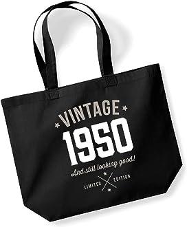 Bolsa de aseo para hombre, 50 cumpleaños, recuerdo vintage de regalo divertido, regalo novedoso, idea de regalo única 26x13x11 negro