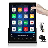 Android Car Radio Double din Car Stereo 9.5'' Movable Vertical Screen Touchscreen Radio with GPS Navigation Bluetooth WiFi FM DVR iOS/Android Mirror Link USB Split Screen + Backup Camera