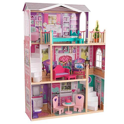 KidKraft 18' Dollhouse Doll Manor, Multicolor