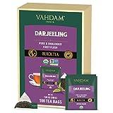 VAHDAM, Orgánica Té Negro Darjeeling del Himalaya (100 Bolsitas de Té) | Té Alto en Energía, con Nivel de Cafeína Medio | Darjeeling 100% Puro de la India | Tomar Caliente, Frío o como Kombucha
