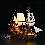 LIGHTAILING Conjunto de Luces (Creator Barco Pirata) Modelo de Construcción de Bloques - Kit de luz LED Compatible con Lego 31109 (NO Incluido en el Modelo)