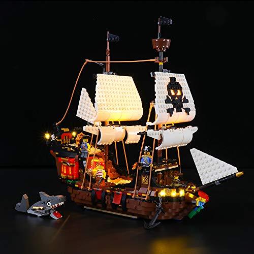 LIGHTAILING Conjunto de Luces (Creator Barco Pirata) Modelo de Construcción de Bloques...