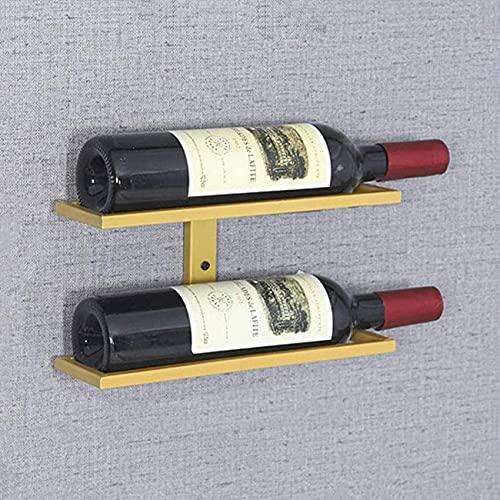 Estante de vino organizador de vino estante de exhibición de botellas de vino de metal montado en la pared estante de vino para decoración de bar / cocina / gabinete, Glod / bodegas comerciale