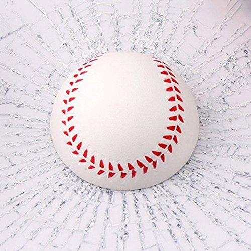 Pu Ran 3D-Aufkleber für Autos, Baseball, Fußball, Tennisball Weiß + Rot Baseball