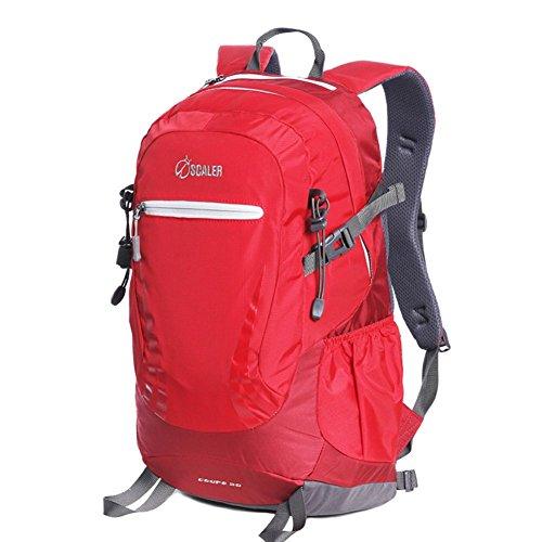 éclairage Sports de Plein air Sac à Dos/Alpinisme Sacs/Pied Package-Red 30L