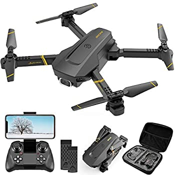4DRC V4 Drone with 1080P HD Camera for adults FPV Live Video Foldable RC Quadcopter Helicopter Kids Toys,2 Batteries,Waypoints Functions Headless Mode,One Key Start Altitude Hold,Carrying Case