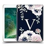 Head Case Designs Officiel Nature Magick Lettre V Monograme Floral Bleu Navy Fleurs 2 Coque Dure...