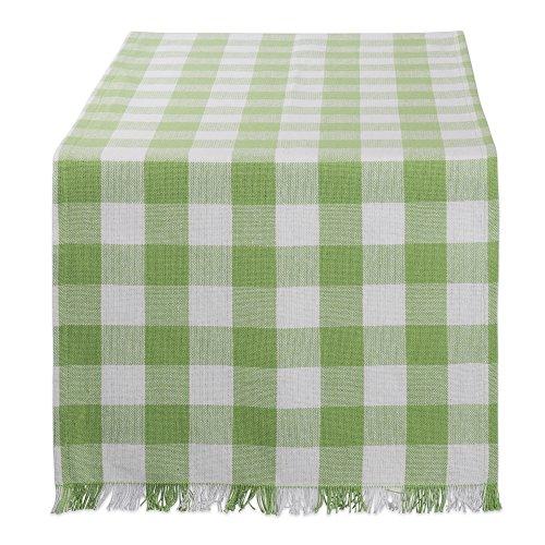 DII CAMZ10437 Table Runner, 14 x 72, Checkered Green