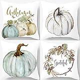 PSDWETS Autumn Decorations Pumpkin Pillow Covers Set of 4 Fall Decor Grateful Thanksgiving...