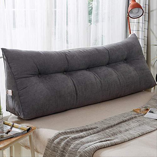 Almohada triangular Cojín de cama Cojín triangular Cabezal de cama Almohada grande Respaldo de la cama Respaldo de la cama Paquete suave Respaldo de la cama Bolsa suave Almohada larga 120 * 50cm 5 #