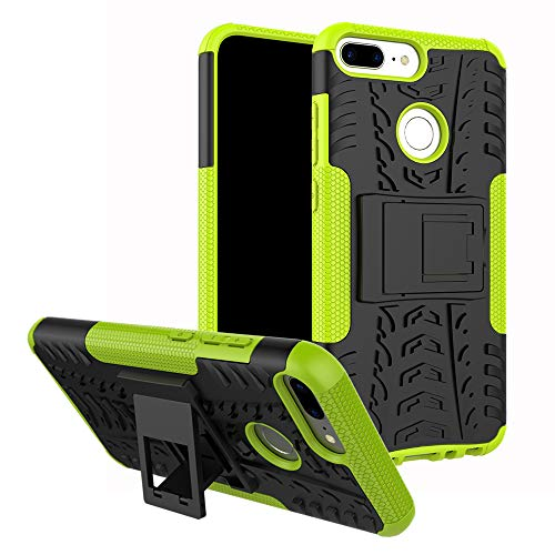 MAMA MOUTH Honor 9 Lite Custodia, Duro Shock Proof Copertura Rugged Heavy Duty Antiurto in Piedi Custodia Caso Case per Huawei Honor 9 Lite Smartphone,Verde