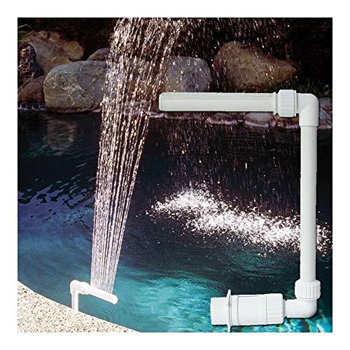 XINXI-YW Conveniente Durables 1 * Fuente de 26 * 40 * 19cm Pescados de la natación Piscina Cascada Fuente de Agua Ajustable Piscinas Decoración Decorativo